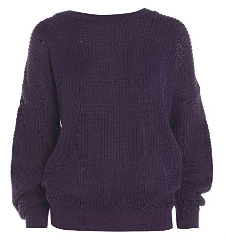 MKL Fashions - Jerséi - para mujer morado
