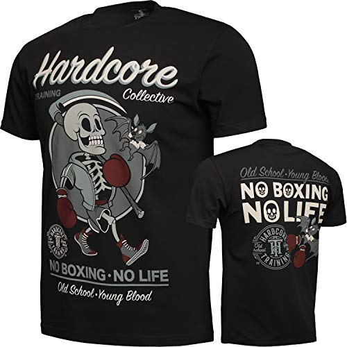 Hardcore Training T-Shirt for Men No Boxing No Life - Gym Crossfit Fitness MMA-m