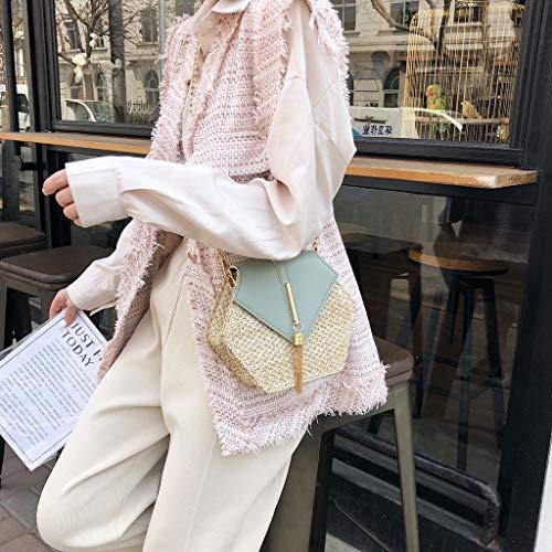 1221f32a2970 Finders   Yiwanjia Mini Straw Crossbody Bag Women Weave Shoulder Bag ...
