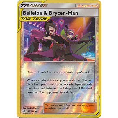 Bellelba & Brycen-Man - 186/236 - Uncommon - Reverse Holo - Cosmic Eclipse: Toys & Games