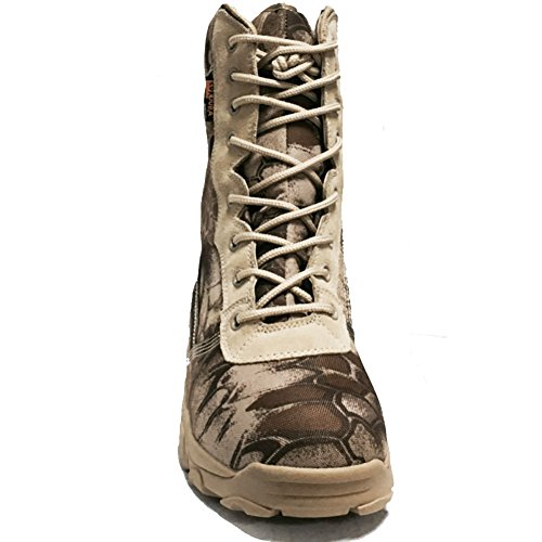 BE DREAMER Tactical Boots Mens 8 Inches Side Zip Combat Special Field Boots GR7OiKX6mf