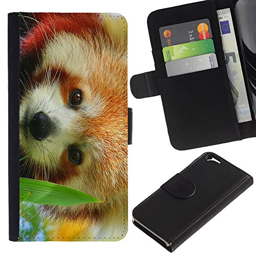 EuroCase - Apple Iphone 6 4.7 - The Red Panda - Cuir PU Coverture Shell Armure Coque Coq Cas Etui Housse Case Cover