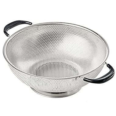 KUKPO 5-Quart Stainless Steel Colander with Heat Resistant Handles