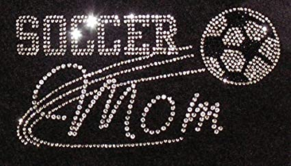 Image Unavailable. Image not available for. Color  Soccer Mom Iron On  Rhinestone Crystal T-shirt Transfer by JCS Rhinestones d7ff62b7ef9a