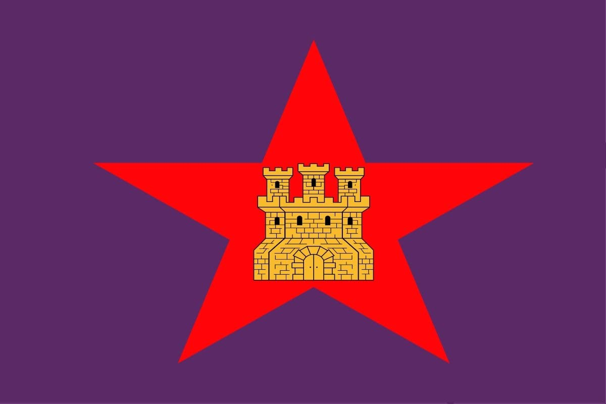 Gran Bandera de Castilla Comunera - Pendón Estrellado de Castilla 150 x 90 cm Satén Durabol: Amazon.es: Deportes y aire libre