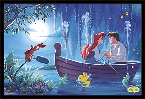 Trends International Framed Poster Ariel-Kiss the Girl, 24.25