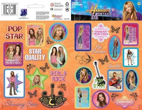 Disney Hannah Montana Pop Princess Glitter Scrapbook Stickers (DHNKKKA2) ()