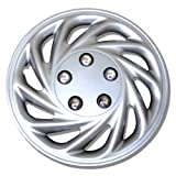 TuningPros WSC-868S15 Hubcaps Wheel Skin Cover 15-Inches Silver Set of 4