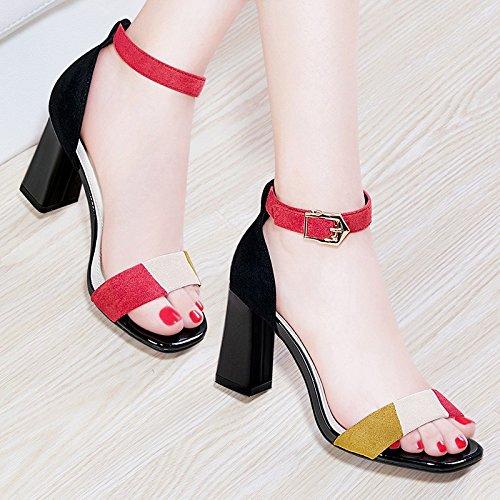HUAIHAIZ Tacones altosLos zapatos de tacón alto elegantes damas sandalias para Boda Fiesta tacones altos Black