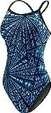 TYR Women's Durafast Elite Diamondfit Swimsuit: Warp Speed, Blue, 22