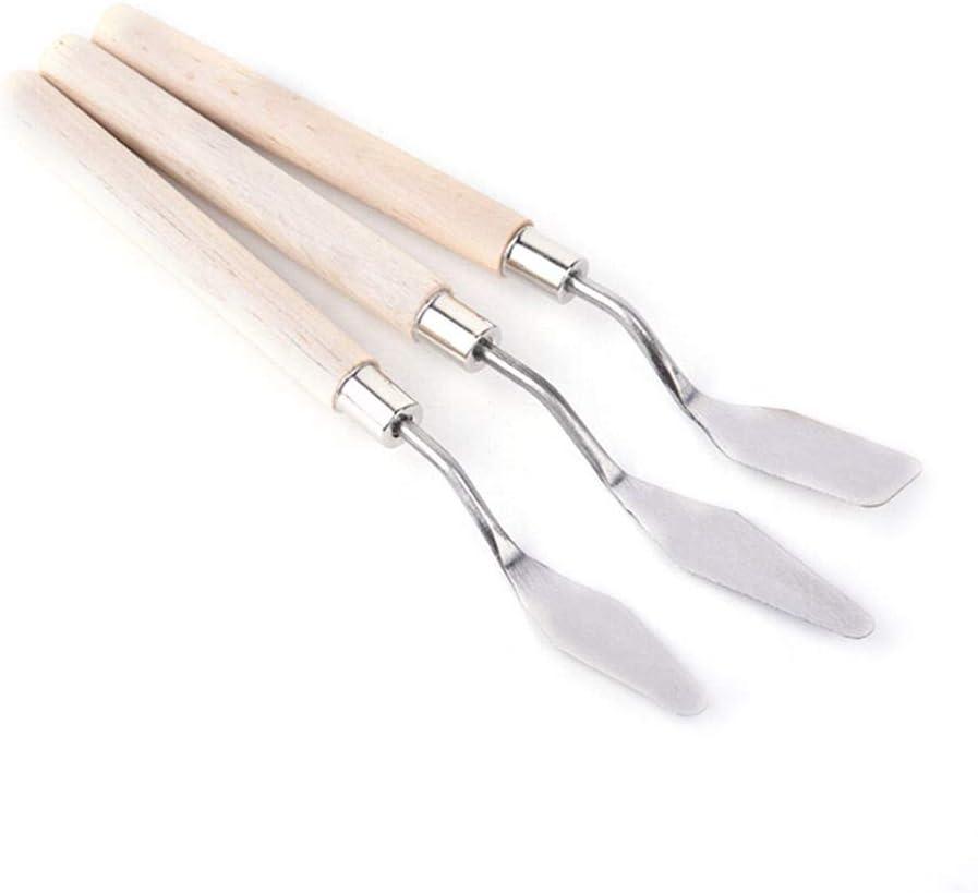 Juego de 5 cuchillos de pintura al /óleo de acero inoxidable kit b/ásico de herramientas de pintura