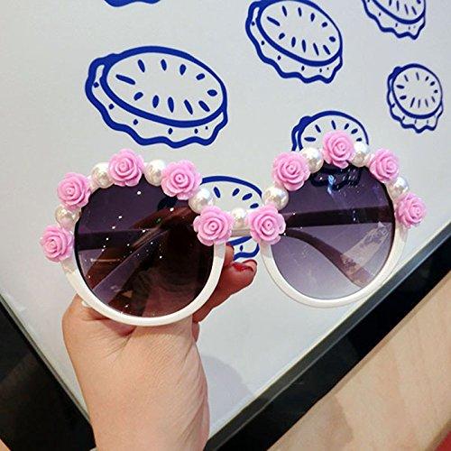 Round X4 de 1 protecciónn amp;Gafas sol Beach para Color LYM sol Fashion amp; mujer Gafas de Resort Gafas de Flowers 6 mujer para qgUxHw