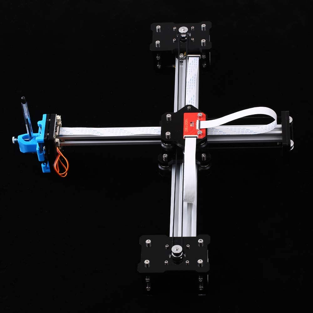 Festnight Escritorio DIY Montado XY Plotter Pluma Dibujo Robot Máquina de Dibujo de Escritura A Mano Kit de Robot 100-240V: Amazon.es: Bricolaje y herramientas