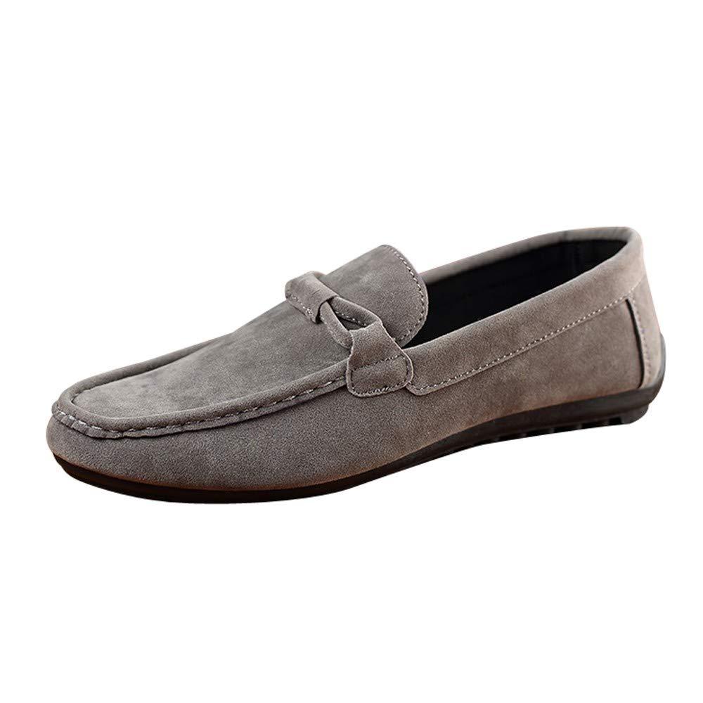 ALIKEEY★★Chaussures en Toile Bottes Homme Chaussures de Montagne Mode Suede Beanie Shoes Chaussures pour Hommes Paresseux Chaussures de Conduite Chaussures Simples
