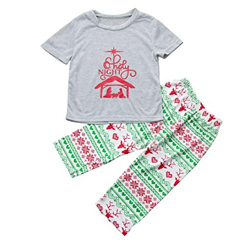 Family Clothes,SEXYP Boy's Christmas Pajamas Set Blouse +Santa Pants Outfits Clothes (Diy Wine Box Costume)