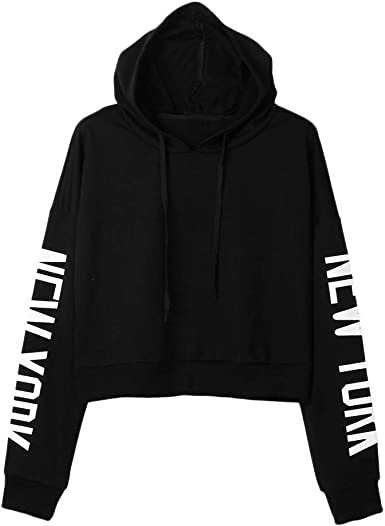 STORTO Womens Raglan Hoodie Number Print Sweatshirt Long Sleeve Color Block Pullover Tops Blouse
