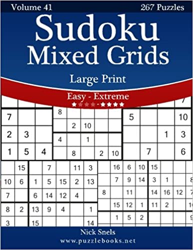 image about Sudoku Printable Grid known as Sudoku Blended Grids Higher Print - Very simple in the direction of Intense - Amount 41