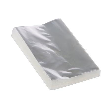 Spaufu - 100 bolsas de plástico para alimentos de celofán transparente para té, hojas de té, panadería, caramelos, galletas, chocolate, transparente, ...