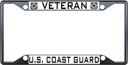 Fastasticdeals Veteran American Flag License Plate Frame Tag Holder Cover
