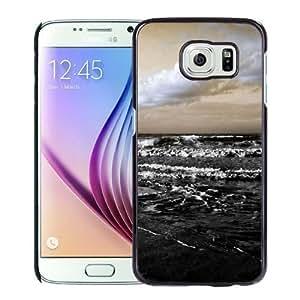 NEW Unique Custom Designed Samsung Galaxy S6 Phone Case With Rough Black Sea_Black Phone Case
