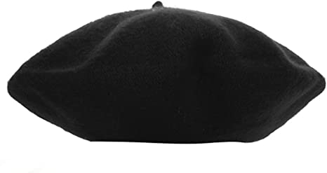 Kids Girls Dome Beret French Style Lightweight Cusual Classic Solid Color Wool Beret