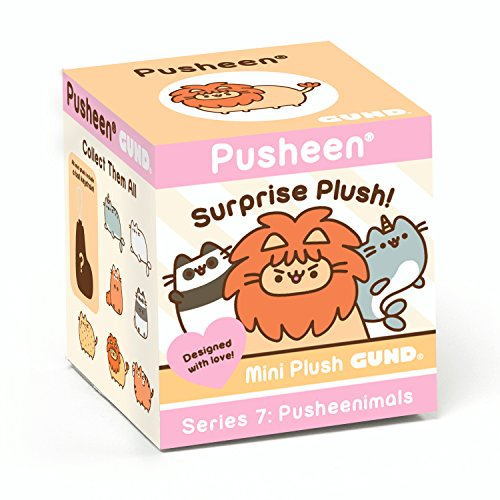 GUND Pusheen Surprise Plush Blind Box Series #7: Pusheenimals, Multicolor
