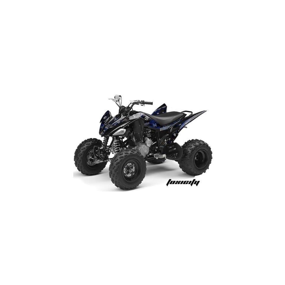 AMR Racing Yamaha Raptor 250 ATV Quad Graphic Kit   Toxicity Blue, Black