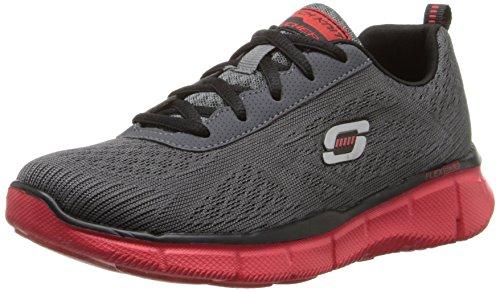 Skechers Kids 95516L Equalizer Quick Reactn Sneaker,Charcoal/Red,4 M US Big Kid