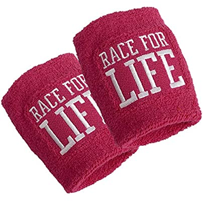 Cancer Research Race for Life Wristband Sweatbands Pink Pack Estimated Price -