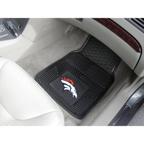 Denver Broncos NFL Heavy Duty 2-Piece Vinyl Car Mats (18x27)