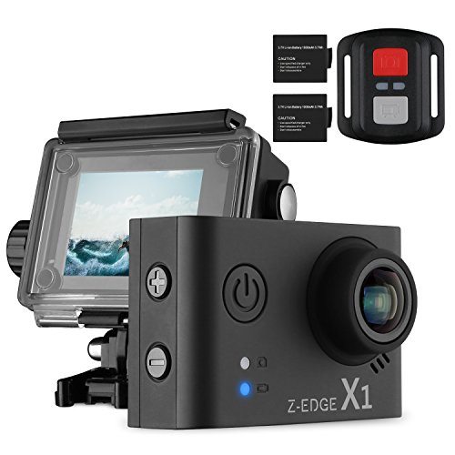 Z-EDGE 4K Action Camera, WiFi Ultra HD Waterproof Sport Camera 2 Inch LCD Screen, 1080P 60FPS 16MP Action Cam, 170 Degree Ultra Wide Angle, With 2 Rechargeable 1000mAh Batteries Z-EDGE