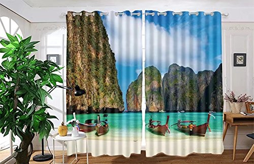 vanfan 2 Panel Set Digital Printed Blackout Window Curtains for Bedroom Living Room Dining Room Kids Youth Room Window Drapes(W108x L39
