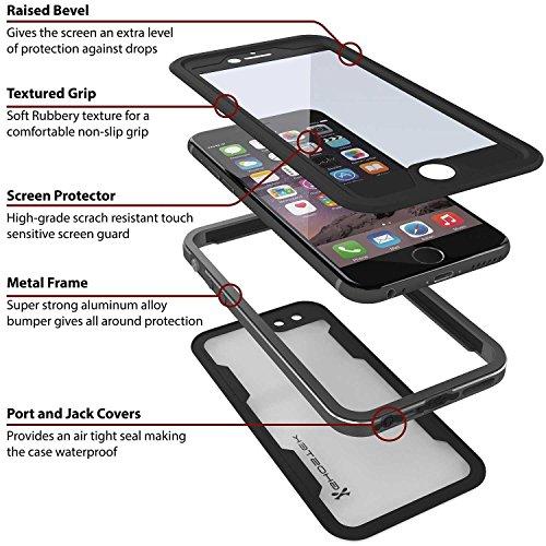 Ghostek Atomic 2.0 Wasserdichte Handyhülle für Apple iPhone 6 und 6S Plus schwarz