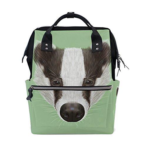 Large Capacity Backpack Portrait Badger Durable Travel Mom Double-Shoulder Bag