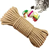 Yangbaga Cat Scratching Post Replacement Hemp Rope for Recovering Cat Climbing Post Tree, Natural Sisal Rope to Repair Scratcher, 6mm Diameter 328 FT