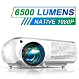 Projector, TOPTRO 6500 Lumens Native 1080P Video Projectors, Support 4K, 4D Digital Keystone Correction for Home Theater, Compatible with Smartphone, PC, TV Box, PS4