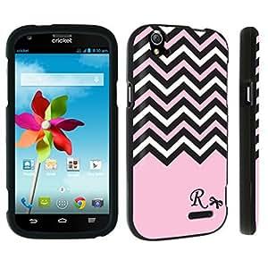 DuroCase ? ZTE Grand X Z777 Hard Case Black - (Black Pink White Chevron R)