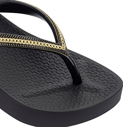 Wedge Mesh Black Womens Gold Flip Black Gold Flops Ipanema 0pxIqwt6p