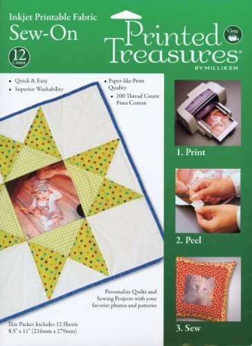 Printed Treasures Inkjet - Dritz Printed Treasures Inkjet Printable Fabric by Dritz