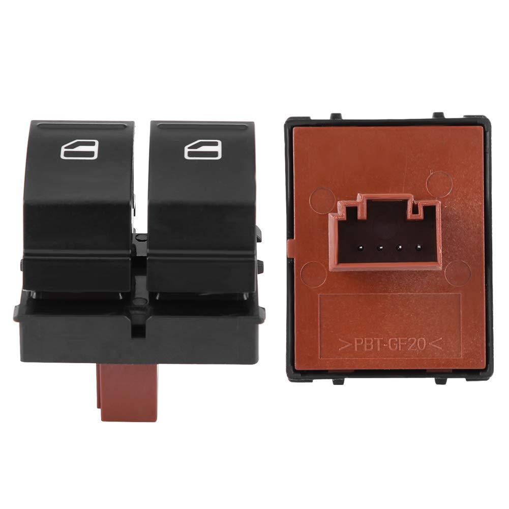Doppelschalttaste f/ür Fenster schwarz elektrische DC-Schalttaste 12V 1Z0959858