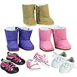 Sophia's 18 Inch Doll Shoes, 6 Pack Boots Shoes Dolls, Doll Accessories