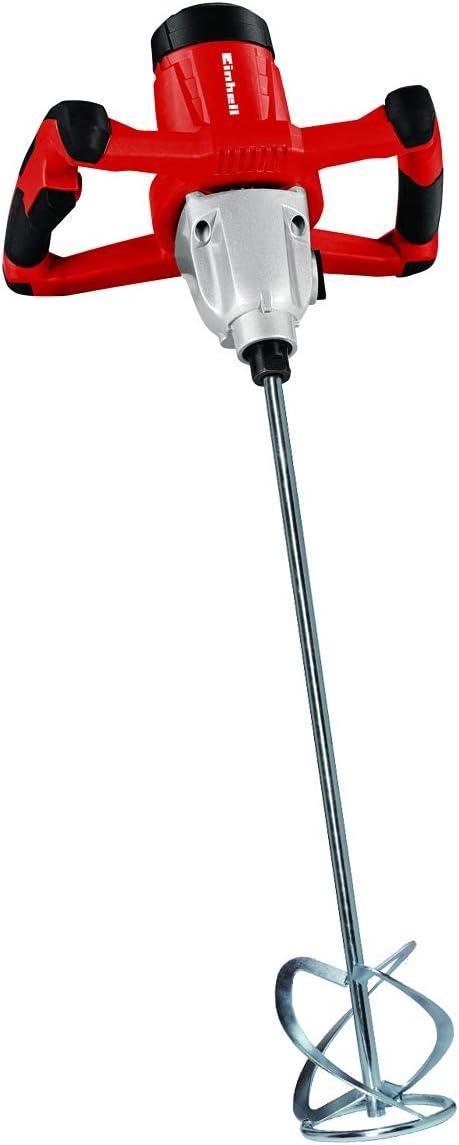 Einhell TC-MX 1400-2 E - Batidor de pintura, 1400 W, caja de engranajes de 2 velocidades, arranque suave, incluido el agitador de mortero. (ref. 4258550)
