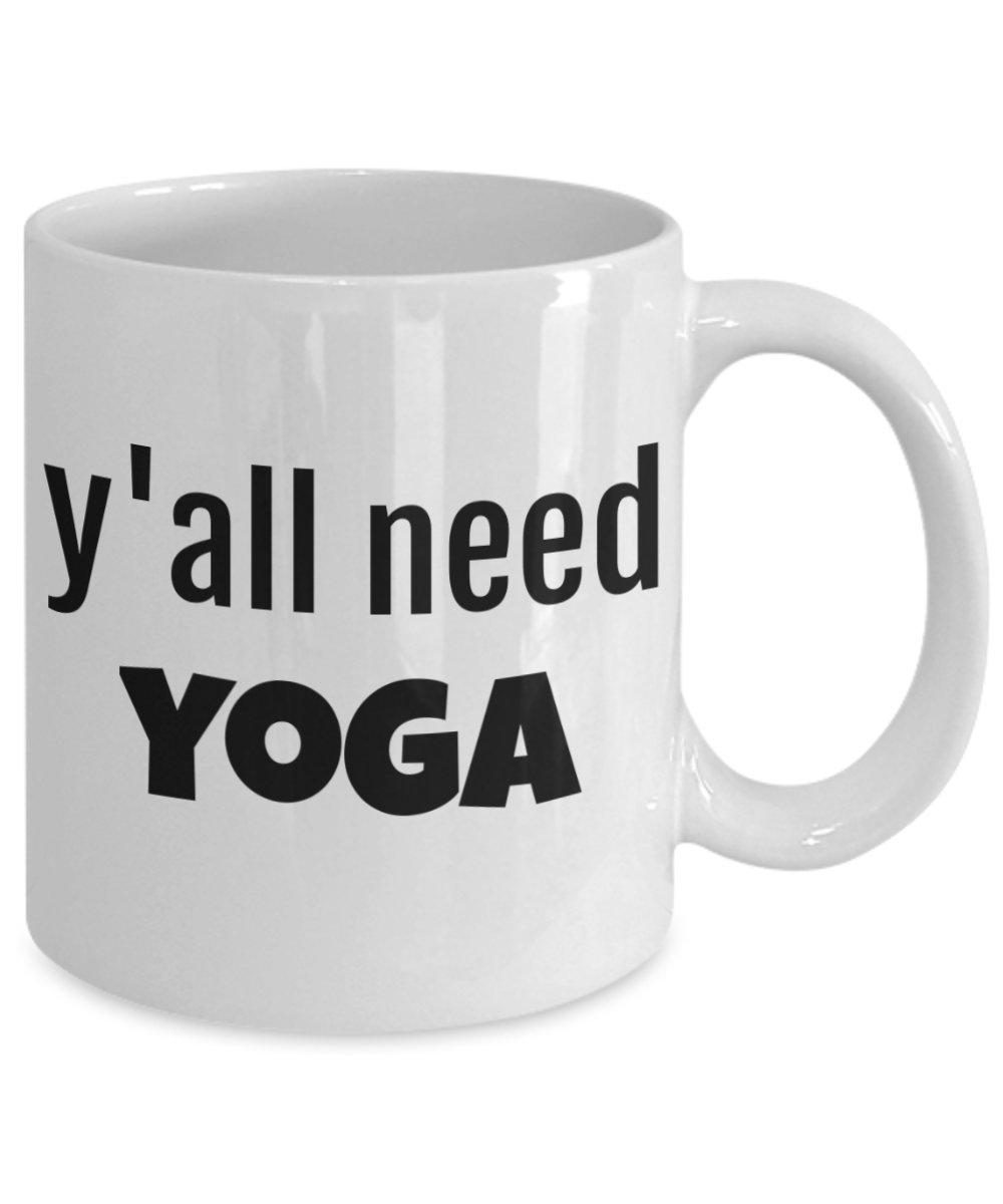 MC- Mugs Yoga Mug - Yall Need Yoga Funny Coffee Cup Gift ...