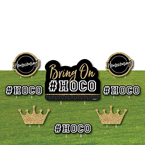 HOCO Dance - Yard Sign & Outdoor Lawn Decorations - Homecoming Yard Signs - Set of 8