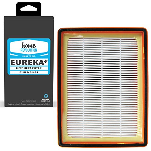 Home Revolution Replacement HEPA Filter, Fits Eureka SmartVac Series and Part 61111, 61111A, 61111B, 61111C, and 61495 ()