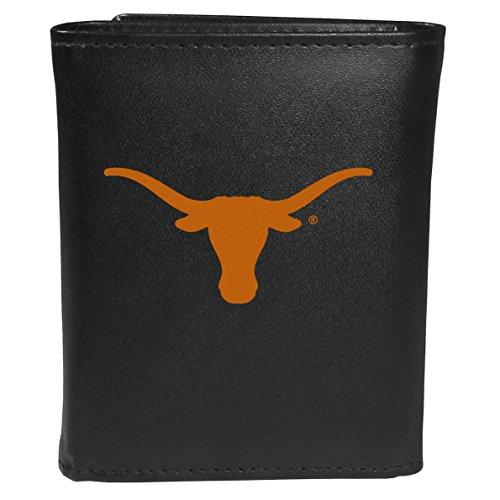 Siskiyou Sports NCAA Texas Longhorns Tri-Fold Wallet Large Logo, Black ()