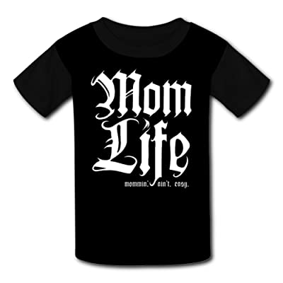 iqwekfrec Kids Mom Life Mommin' Aint Easy Customized O-Neck T Shirt for Boys Girls