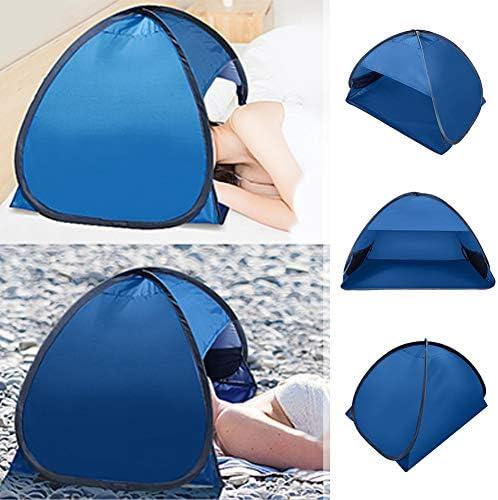 SQER Persönlicher Sonnenschutz, Pop-Up-Mini-Gesichtskopf-Anti-UV-Zelt, Sofort-Sonnenschutz-Baldachin mit Mesh-Tasche mit Fenster mit Reißverschluss für das Beach Lounge Chair-Boot