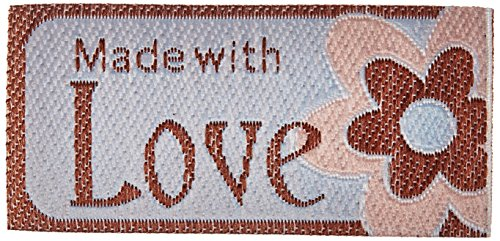 Iron-On Lovelabels 4/Pkg-Made With Love -Flower