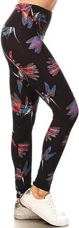 "Leggings Depot Yoga 5"" Wideband REG/Plus Women's Buttery Soft Christmas Printed High Waist Leggings"